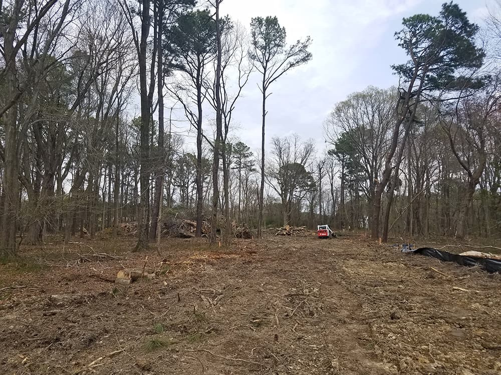 initial construction for kent island location of dogwood acres