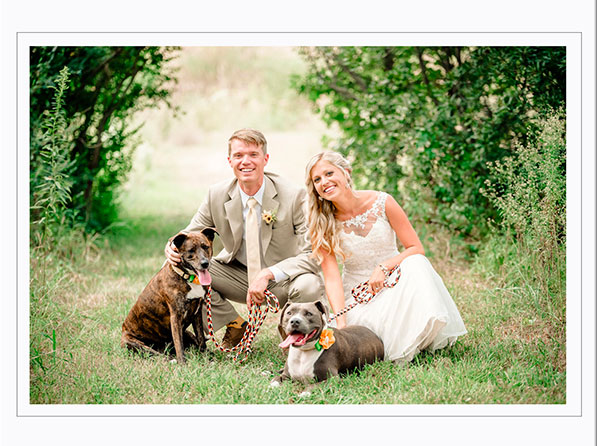 Married couple with dog