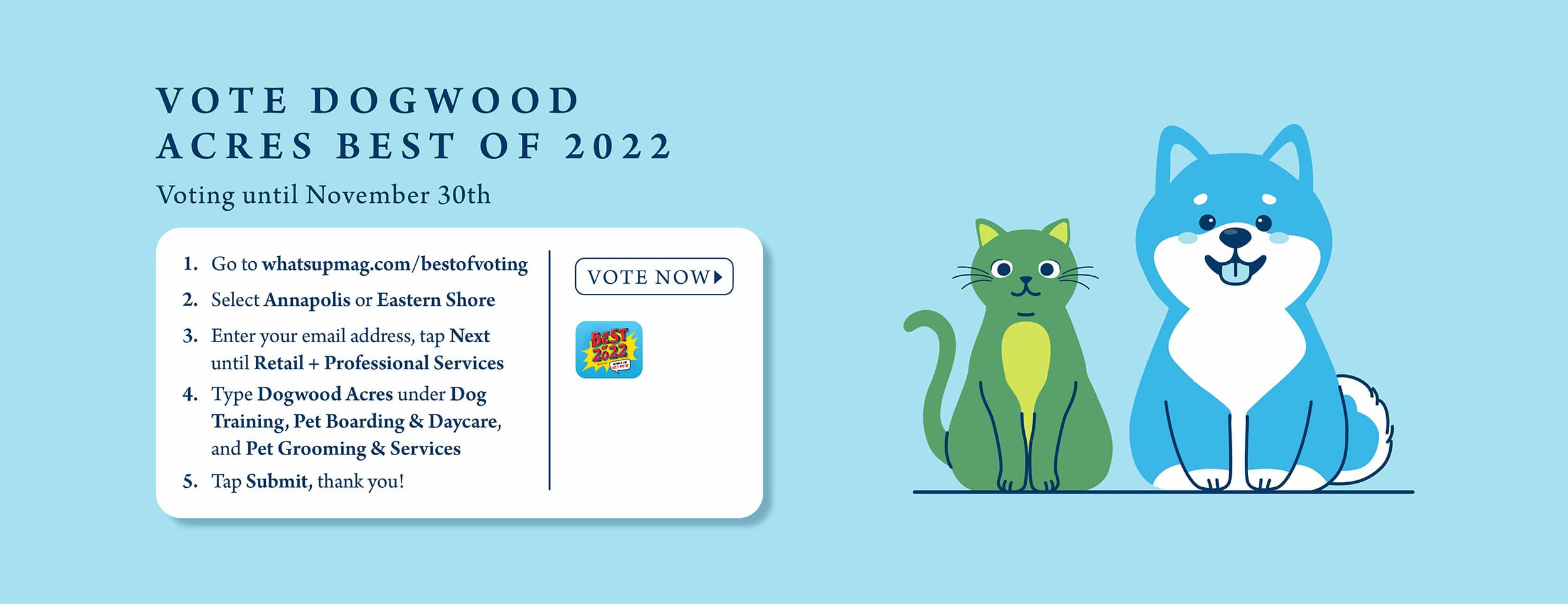 Vote Dogwood Acers Best of 2022